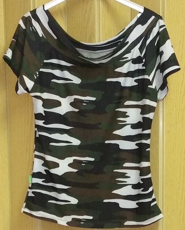 damen m dchen oberteil top bluse von city girl gr 36 camouflage ebay. Black Bedroom Furniture Sets. Home Design Ideas