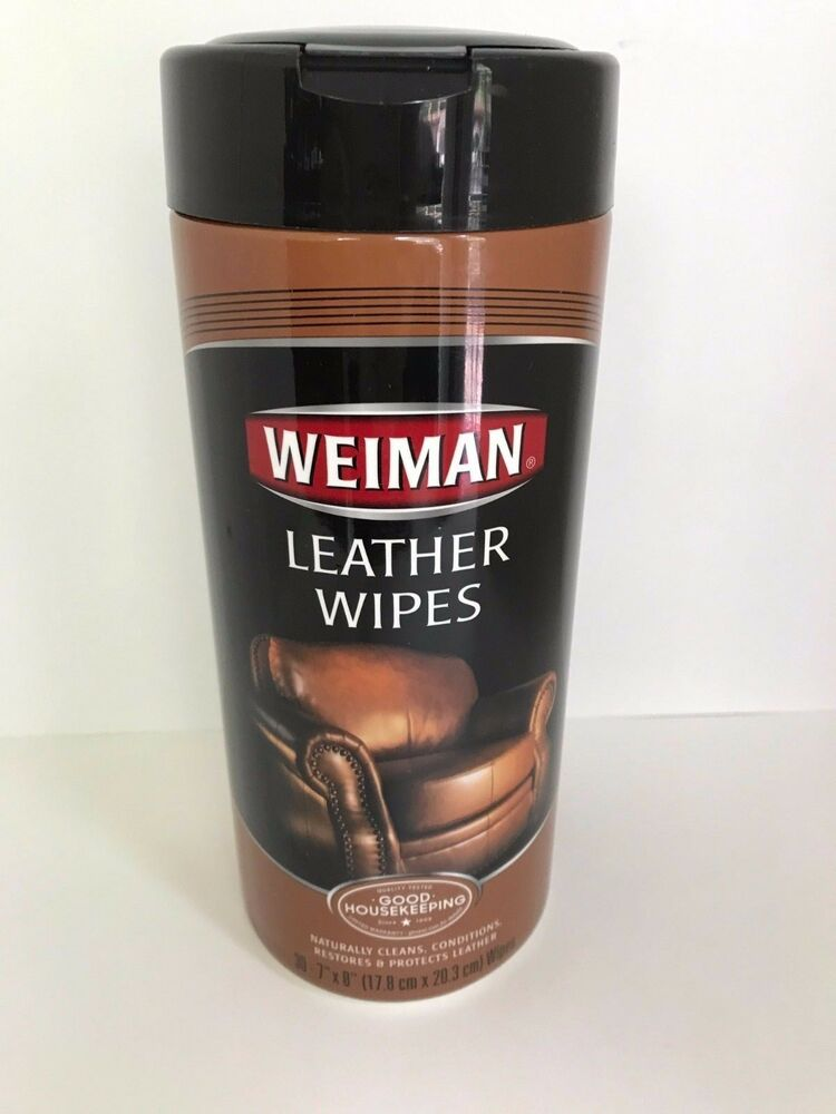 Weiman Leather Wipes 30 Count Furniture Car Seats Handbags