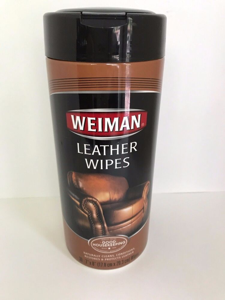 weiman leather wipes 30 count furniture car seats handbags shoes cleaner polish ebay. Black Bedroom Furniture Sets. Home Design Ideas