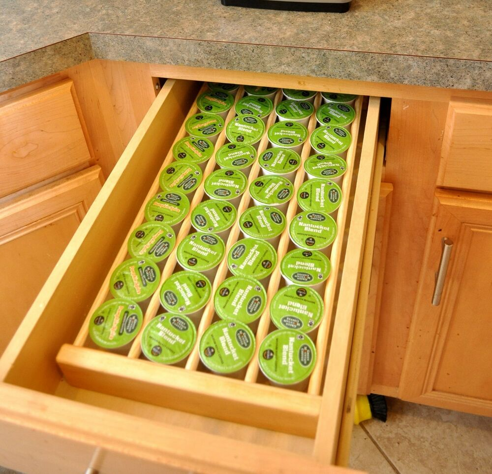 Keurig K Cup Storage Drawer Inserts For Organizing Coffee