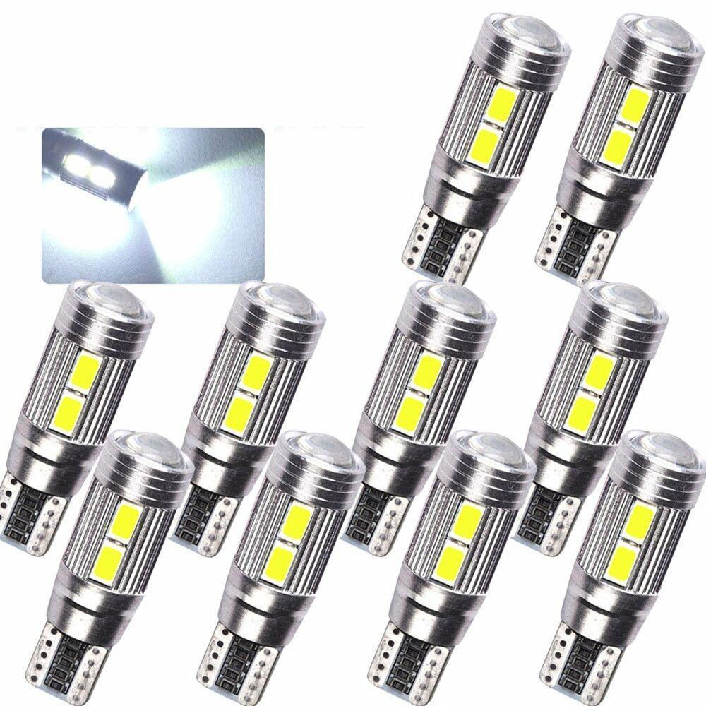 10 x canbus error free white t10 10smd 5630 led bulbs. Black Bedroom Furniture Sets. Home Design Ideas