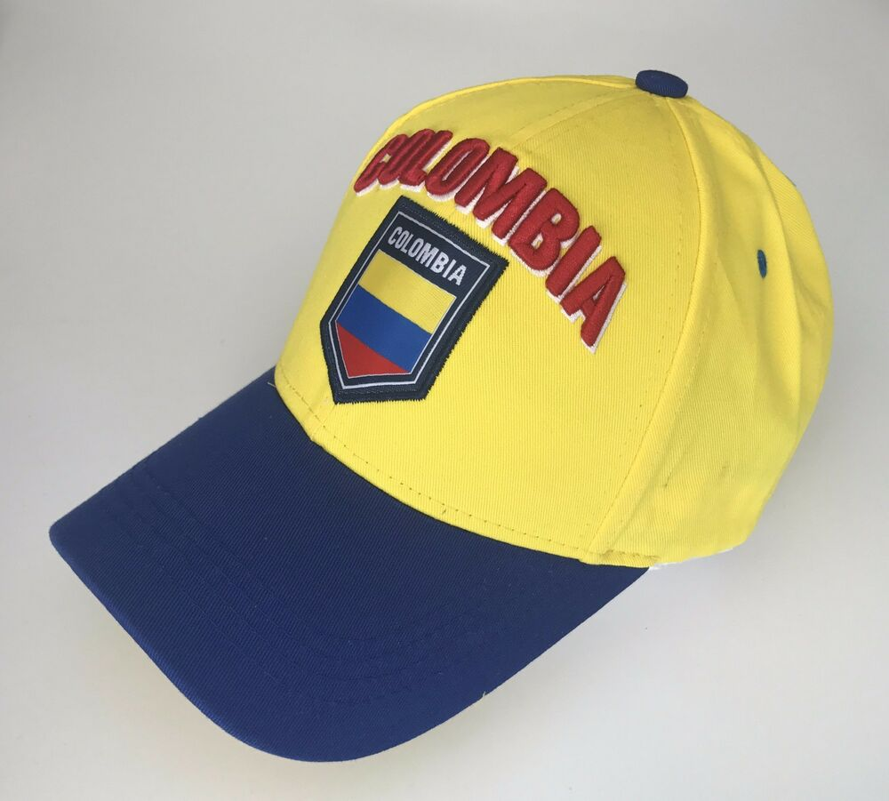 Details about Colombia Cap Soccer Hat Cap Yellow Blue world cup Flag James  Rodriguez 10 yellow b98fc0e1403