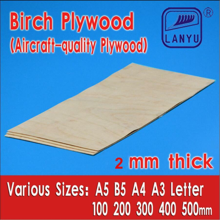 Aircraft Grade Birch Plywood Sheet 2mm Thick For Model