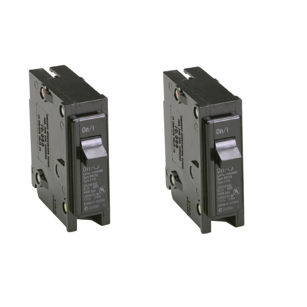 2x Eaton 30-Amp Single-Pole Fuse-Box Trip Bryant BR Circuit-Breaker Switch  BR130 30786676362208 | eBay