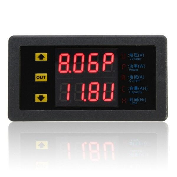 L De Voltage Meter : Digital combo meter volt amp power ah hour battery