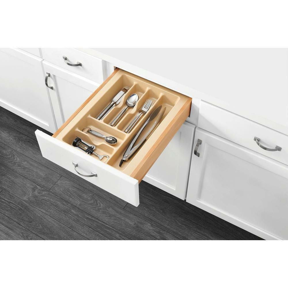 kitchen storage trays rev a shelf cutlery utensil tray drawer insert kitchen 3192