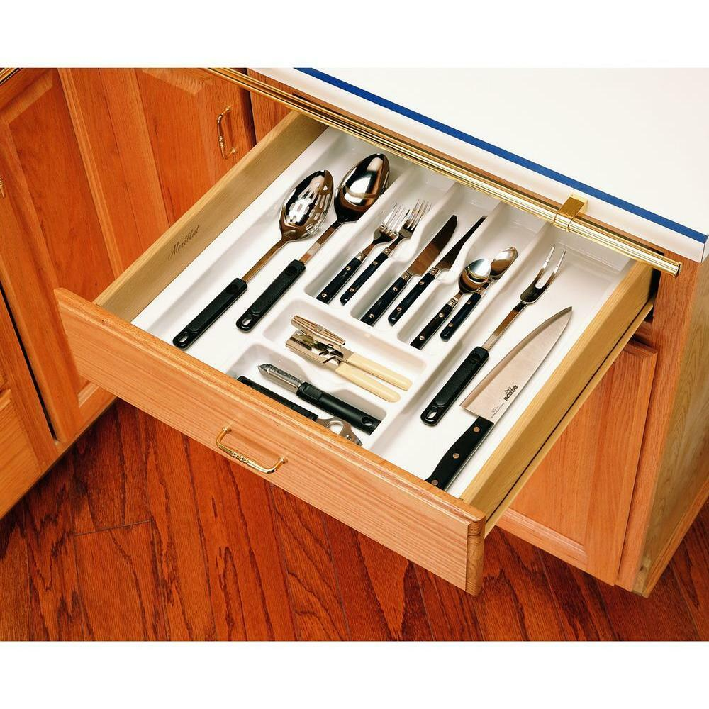 Kitchen Shelf Organiser: Rev A Shelf Kitchen Utensil Cutlery Drawer Liner Storage