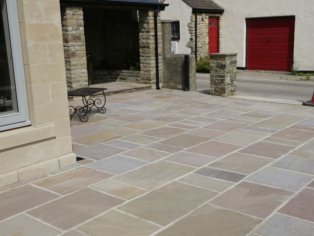Patio Pavers Ebay : Natural indian sandstone patio paving slabs flags pavers