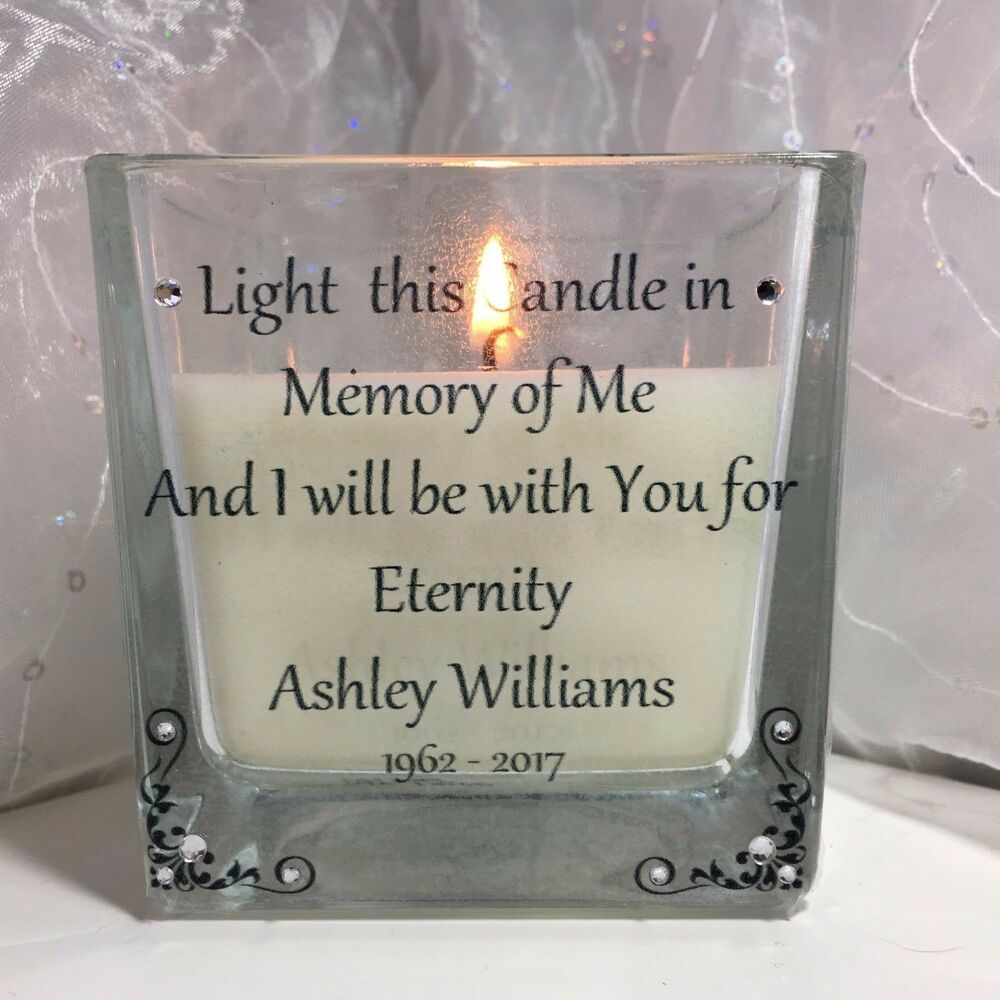 Personalised Memorial Candle Loved One In Memory