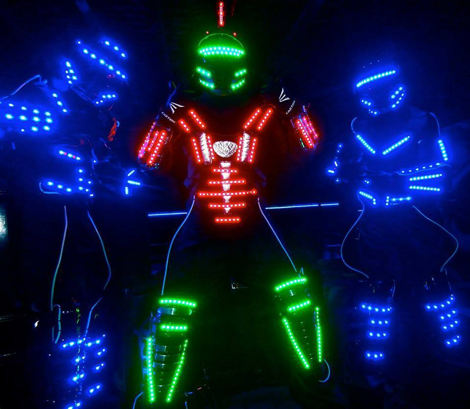 Led Robot Suit Costume Leds Party Show Glow Night Parties