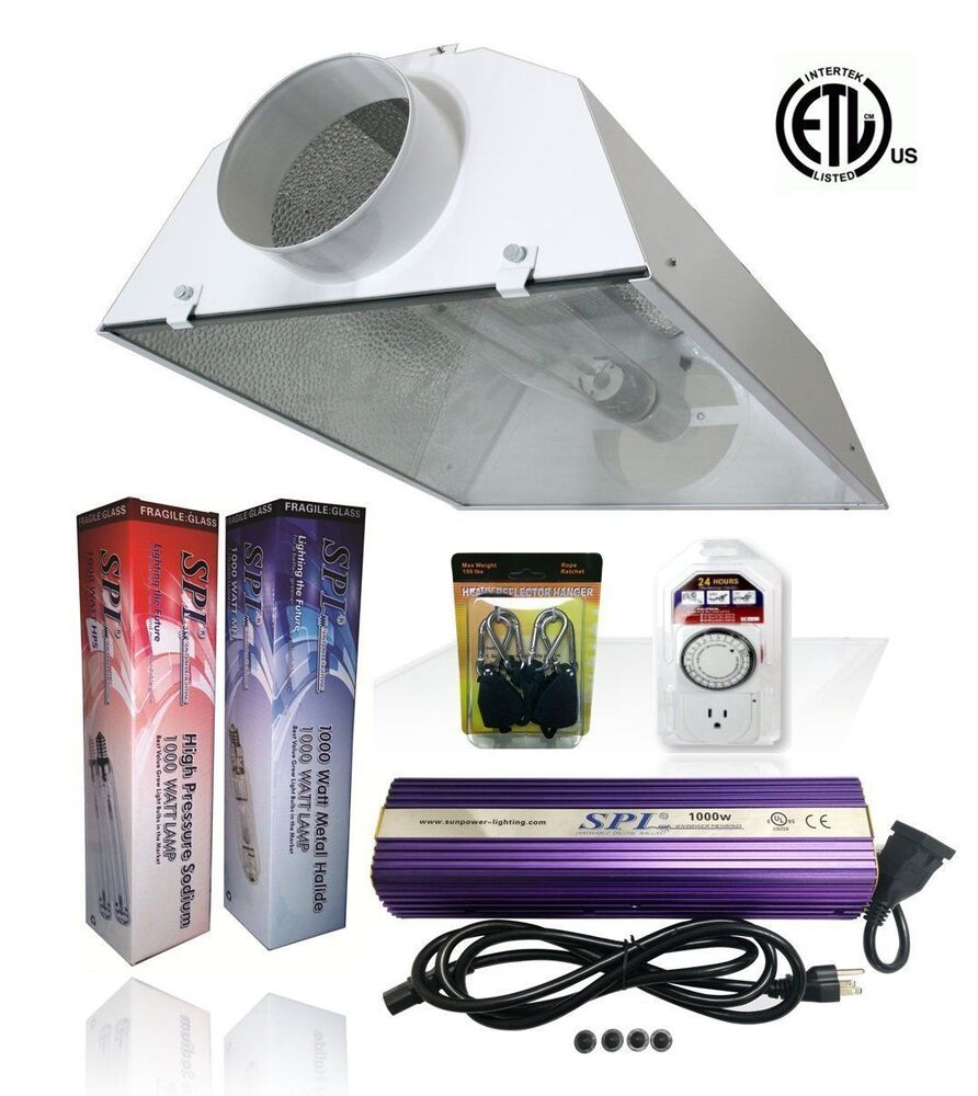 spl 400w 600w 1000w watt grow light kit hps mh air cooled set for plant ebay