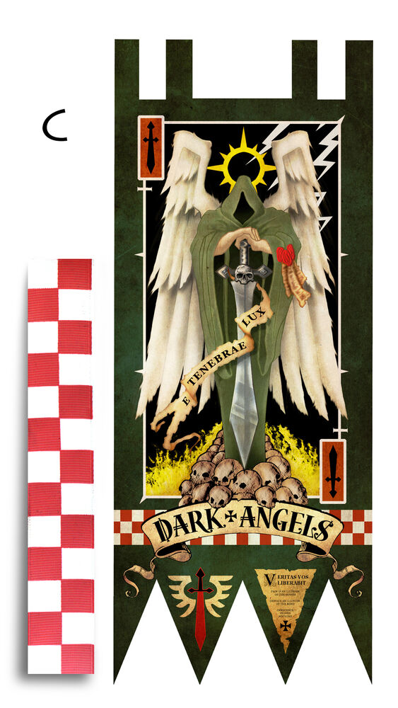 40k lifesize vinyl banner dark angels ebay for Decor 40k
