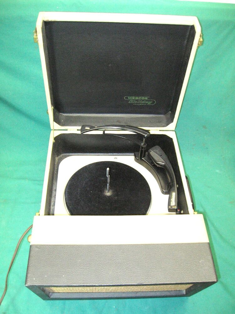 Vintage Webcor portable record player Holiday Phonograph E ...