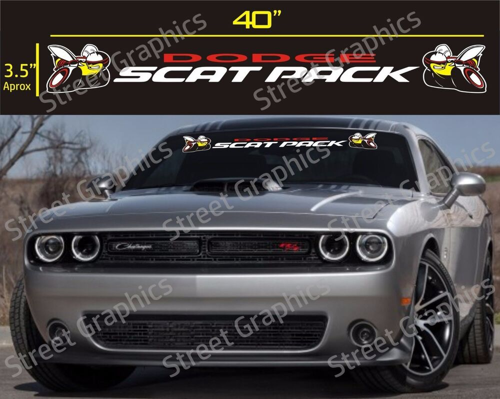 Scat Pack Parts  Accessories EBay - Truck windshield decals   how to purchase and get a great value safely