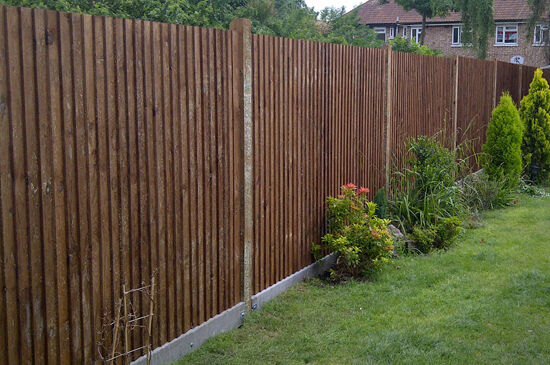 feather edge fence panel brown 6x6 6x5 6x4 6x3 ebay. Black Bedroom Furniture Sets. Home Design Ideas