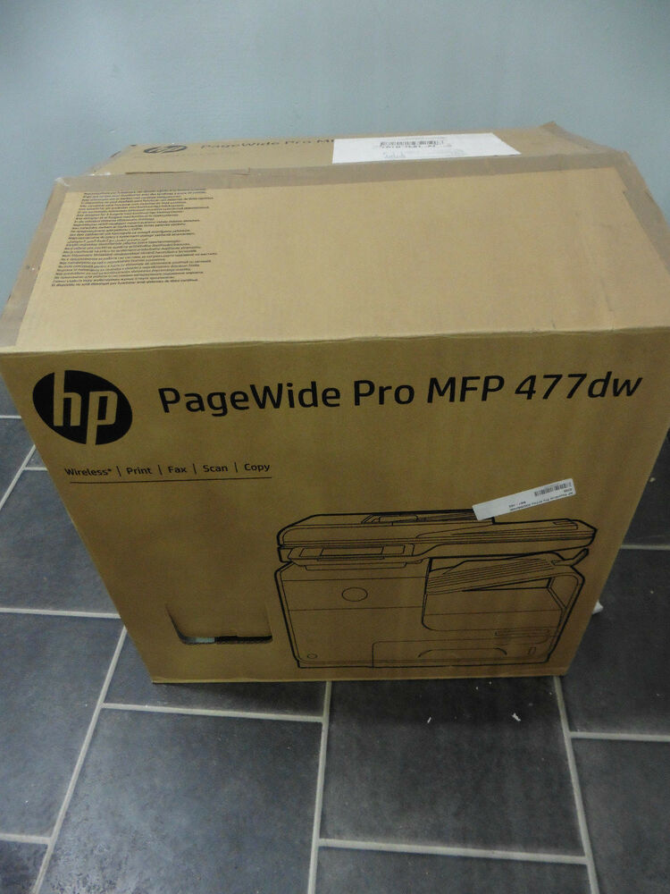 hp pagewide pro 477dw farbe tintenstrahl faxger t kopierer drucker scann ebay. Black Bedroom Furniture Sets. Home Design Ideas