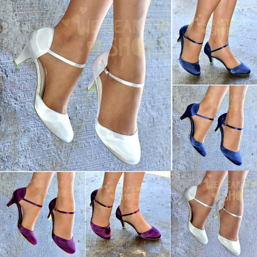 Ladies Satin Ankle Strap Shoes Diamante High Heel Dancing