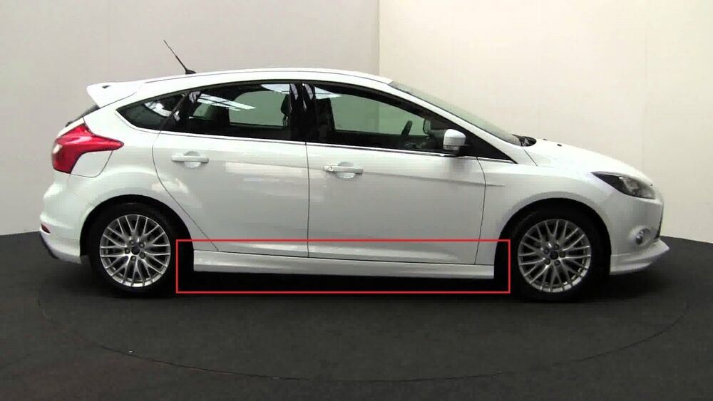 ford focus 3 mk3 st side skirts zetec look new 2 pieces. Black Bedroom Furniture Sets. Home Design Ideas