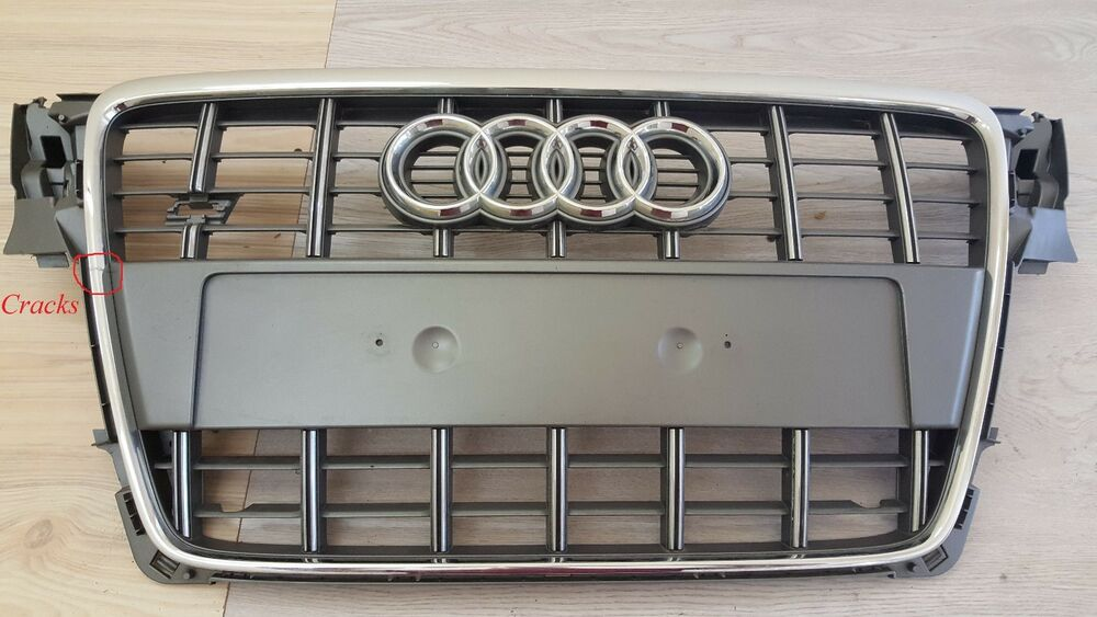 audi a4 s line s4 b8 2008 2011 front center grille. Black Bedroom Furniture Sets. Home Design Ideas