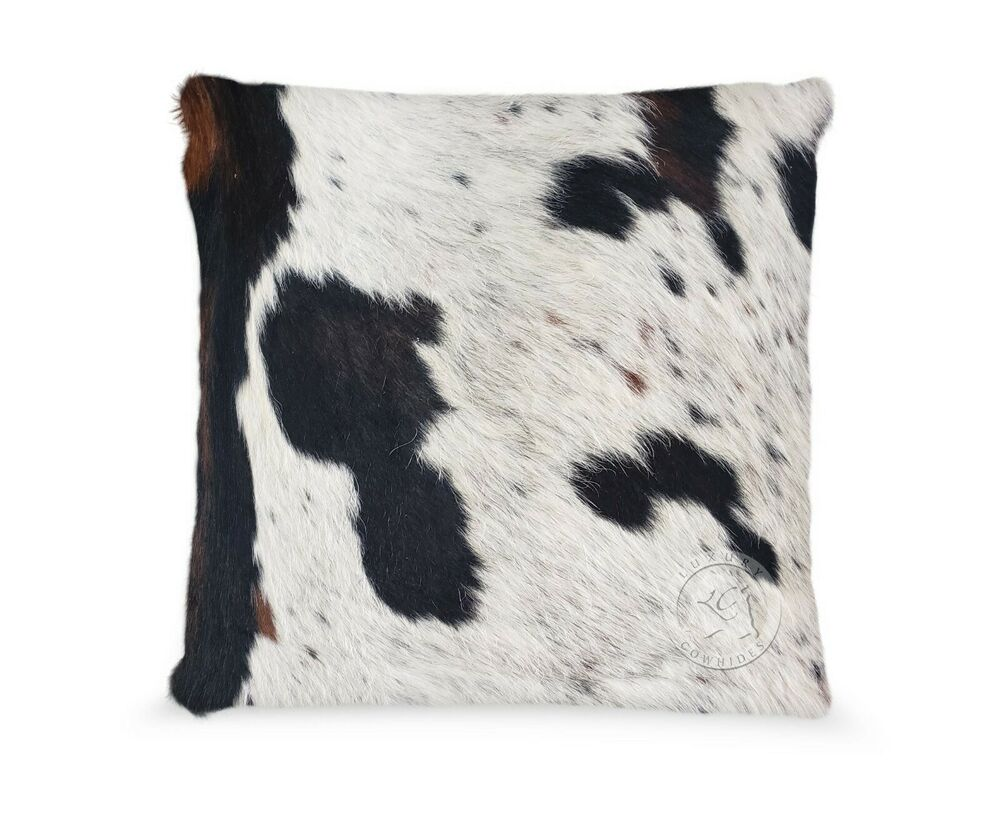 Cowhide Pillow Cover Tricolor 20 X 20 168 Cushion Double