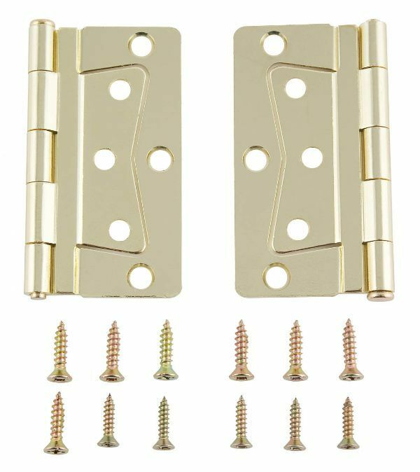 Mobile Home Rv Interior Butterfly Brass Hinge Set With