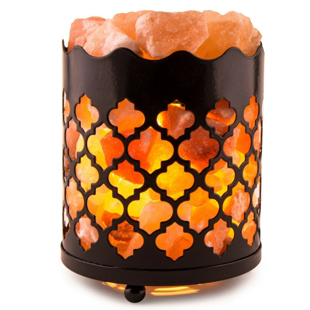 crystal decor natural himalayan salt lamp with salt chunks