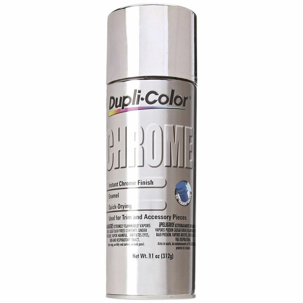 duplicolor cs101 instant chrome metallic 11 oz aerosol spray paint ebay. Black Bedroom Furniture Sets. Home Design Ideas