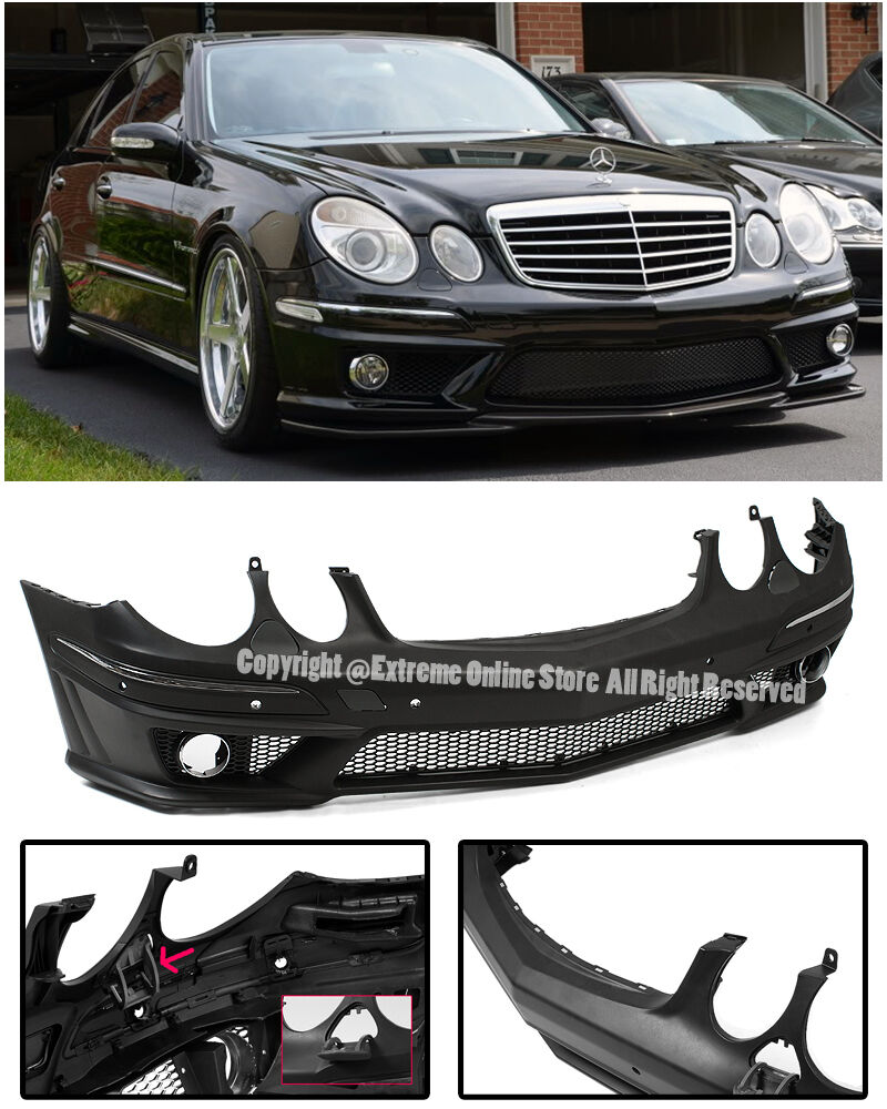 Amg style front conversion bumper cover for 07 09 mercedes for Mercedes benz e350 car cover