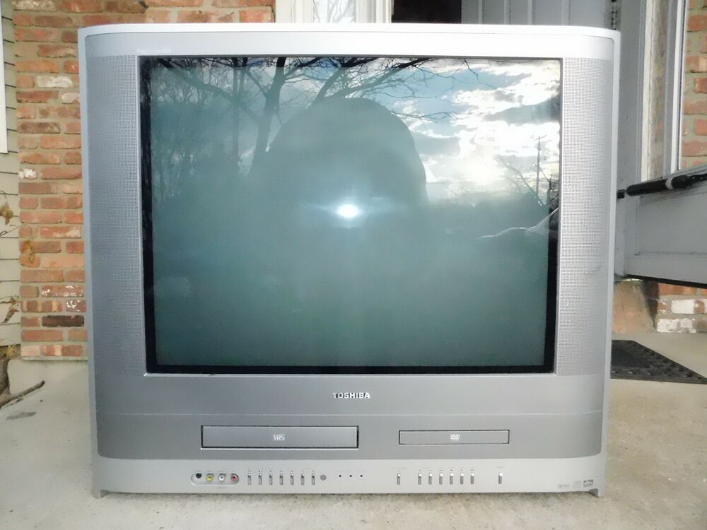Toshiba Mw24fpx 24 U0026quot  Crt Tv Dvd Vhs Vcr Player Combo Color