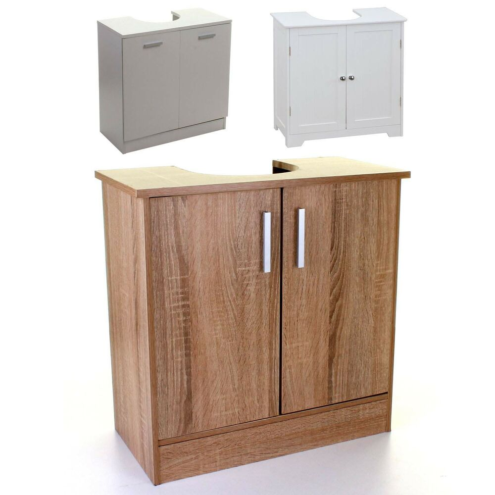 Under sink cabinet basin storage unit cupboard bathroom for White bathroom chest