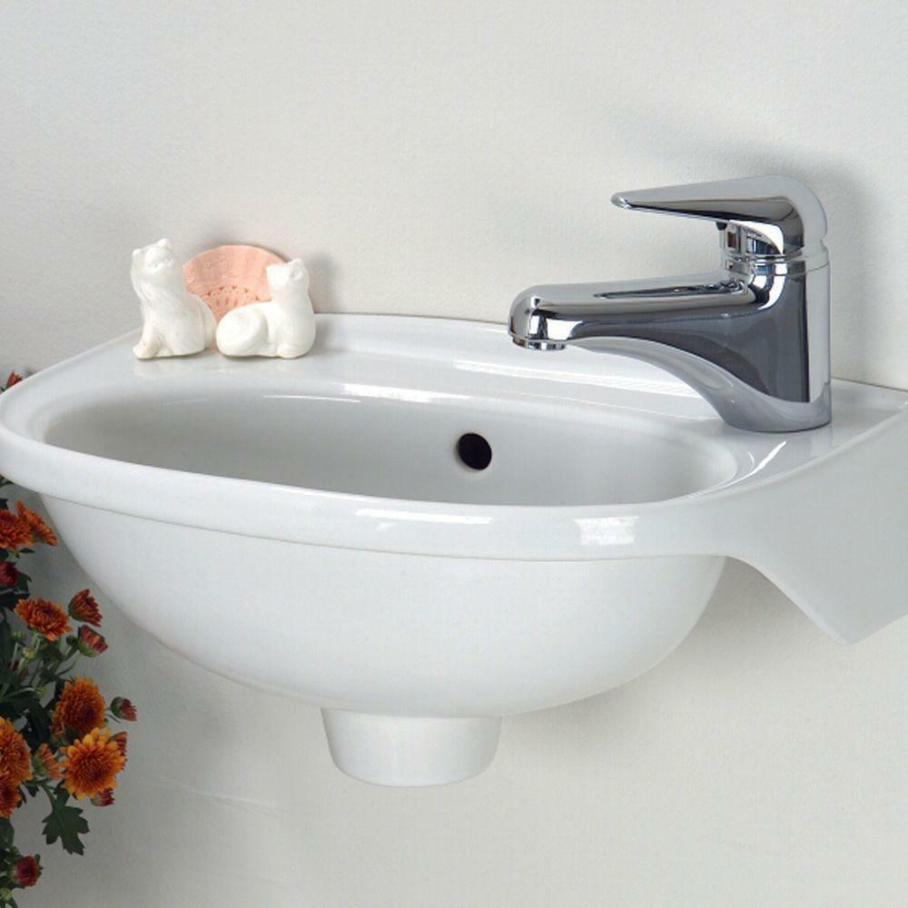 New Tina Wall Mounted Bathroom Sink White Small Compact
