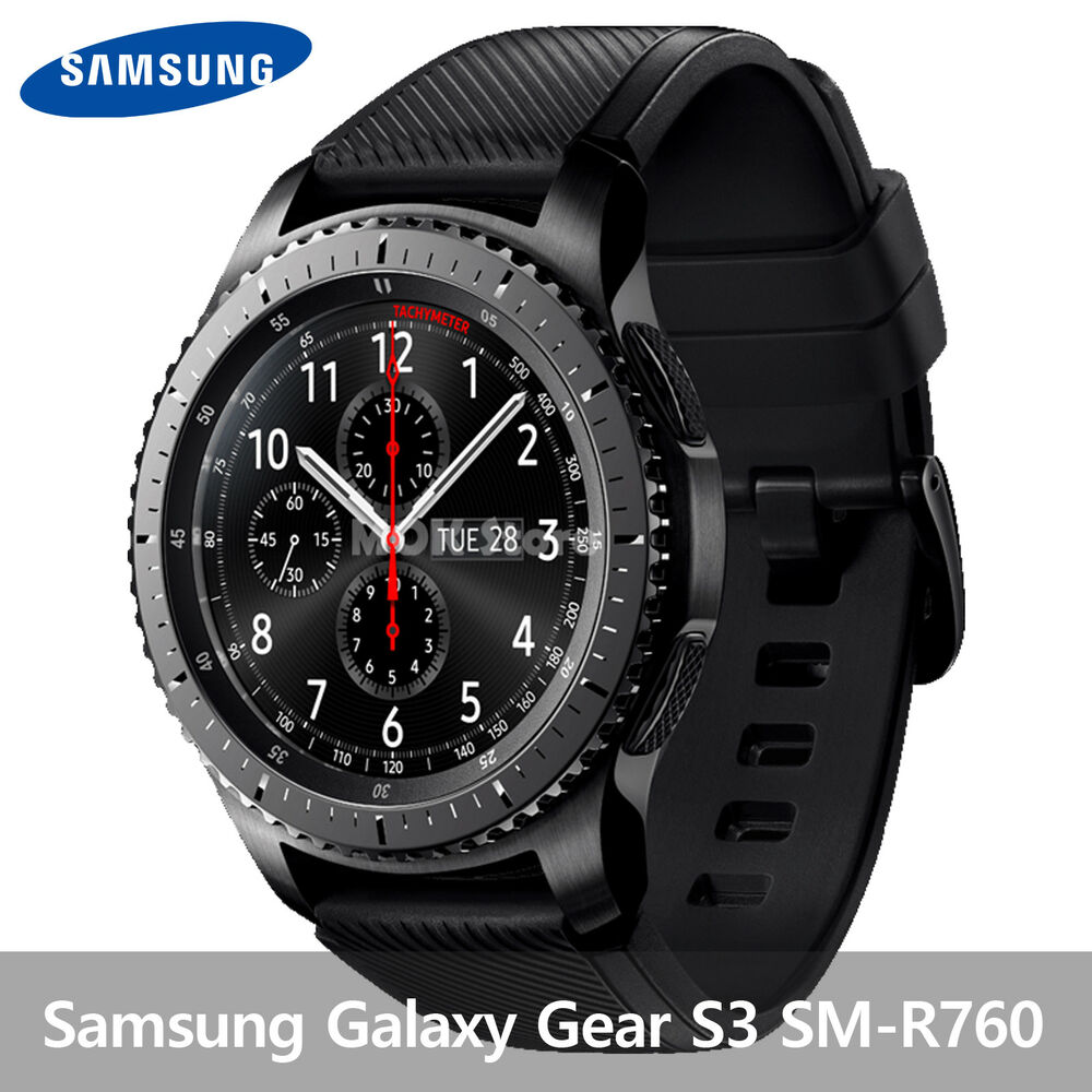 Samsung galaxy gear s3 frontier sm r770 wifi 46mm smart watch stainless steel ebay for Watches gear