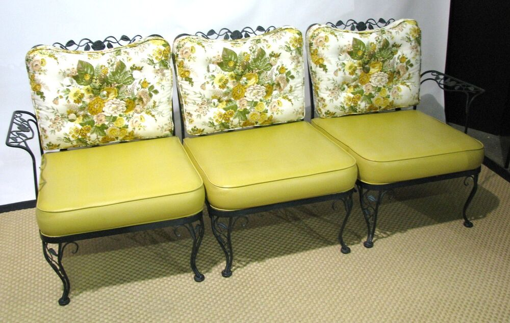 12 Pc Iron Woodard Sunroom Set; Sofa, Rockers, Chair ...