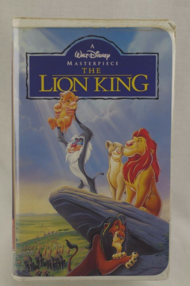 the lion king walt disney masterpiece collection vhs 1995
