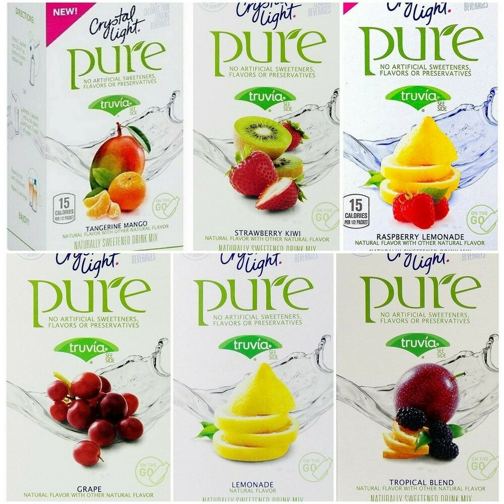 Crystal Light Pure On The Go Drink Mix Variety Pack 6