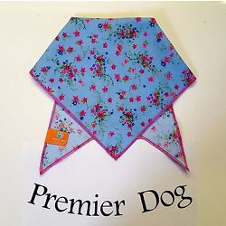Denim Floral Dog Bandana / Scarf - 3 sizes to choose from!.