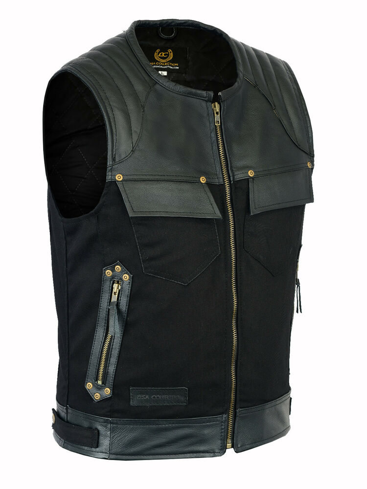 Add an edgy touch to your everyday looks with this denim biker vest. Women's 6 Pocket Side Lace Denim Vest w/ Gun Pockets (Black,) by Milwaukee Leather. $ - $ $ 47 $ 55 99 Prime. FREE Shipping on eligible orders. Some sizes are Prime eligible. out of 5 stars Product Features.