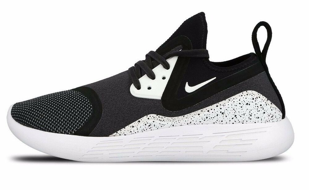 big sale 0565a b5039 Details about NIKE LUNARCHARGE PREMIUM LE 923284-999 Black White  Multi-Color Men s Sneakers