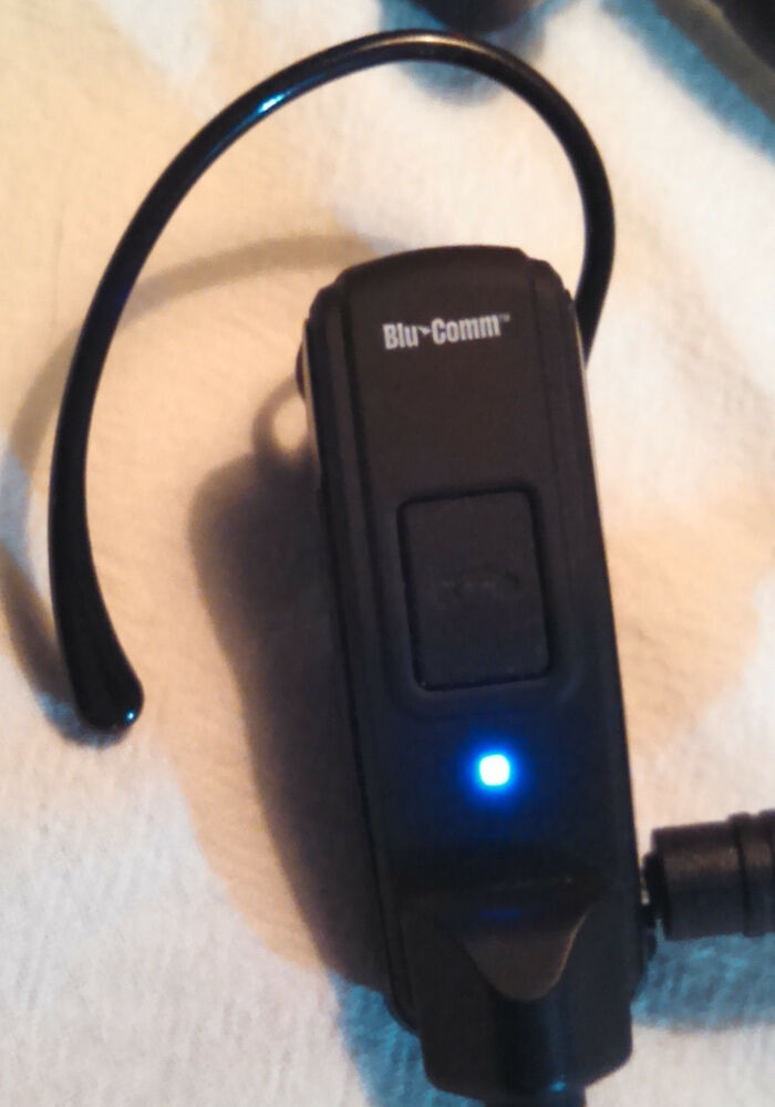 Police Radio Mic >> Blu-Comm Bluetooth Wireless Headset Kit Two-way Police Ham ...