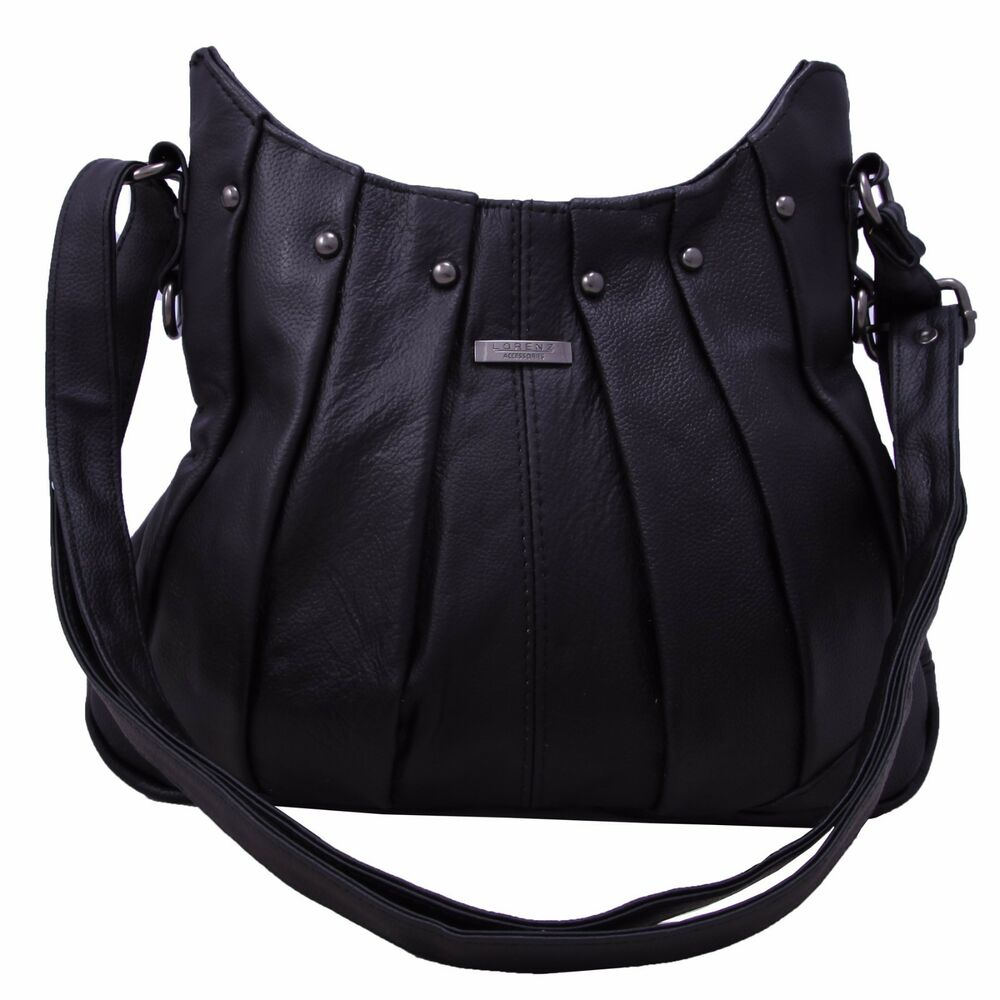 New Ladies Black Leather Tote Bag | Leather Travel Bags For Women