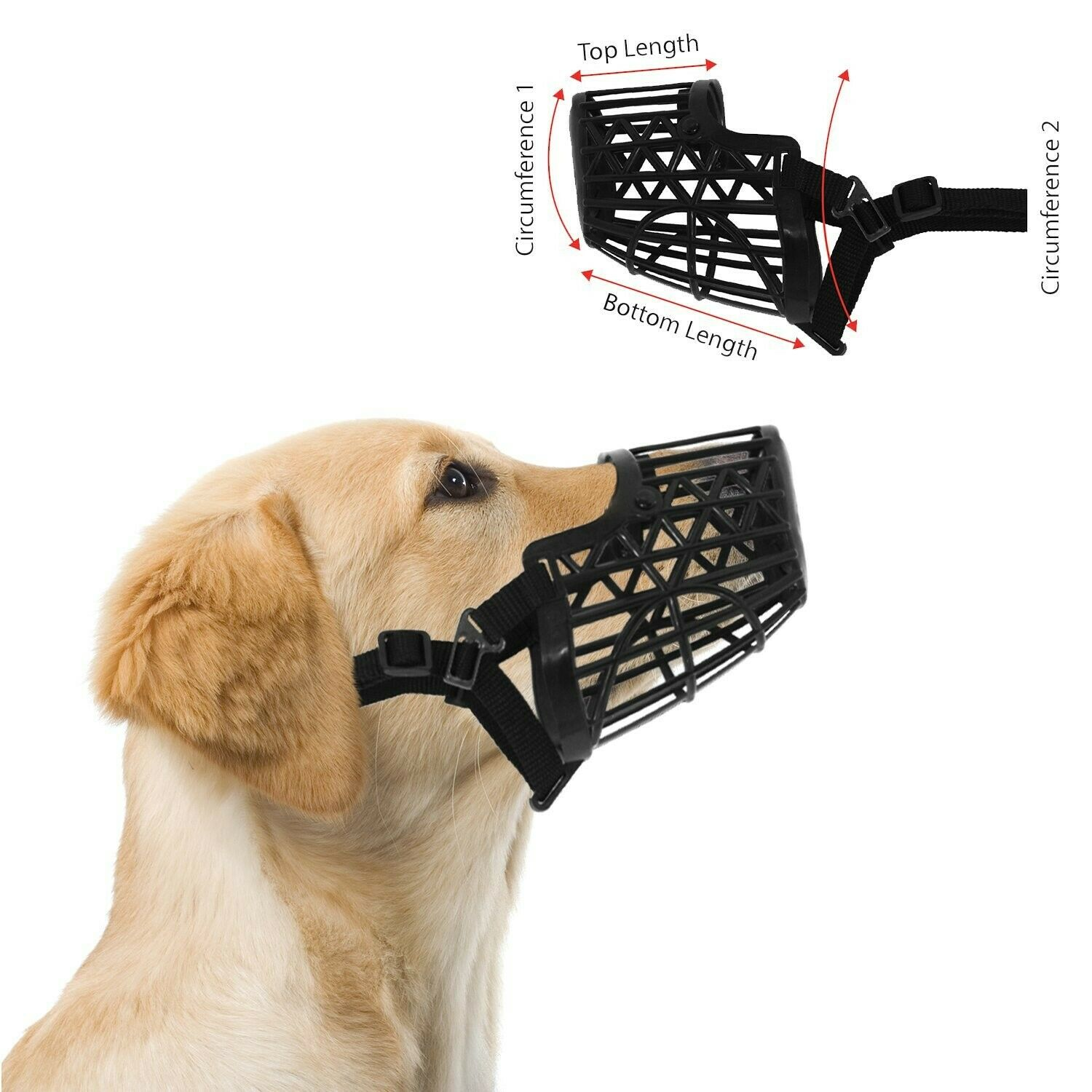 Downtown Pet Supply Basket Cage Dog Muzzle Size 5 – Snout Circumference – 12""