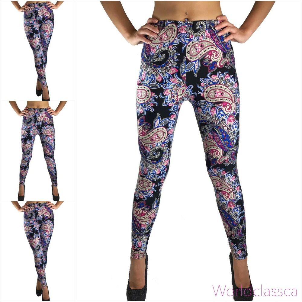 leggings leggins treggings strech blumen bunt fitness hose. Black Bedroom Furniture Sets. Home Design Ideas