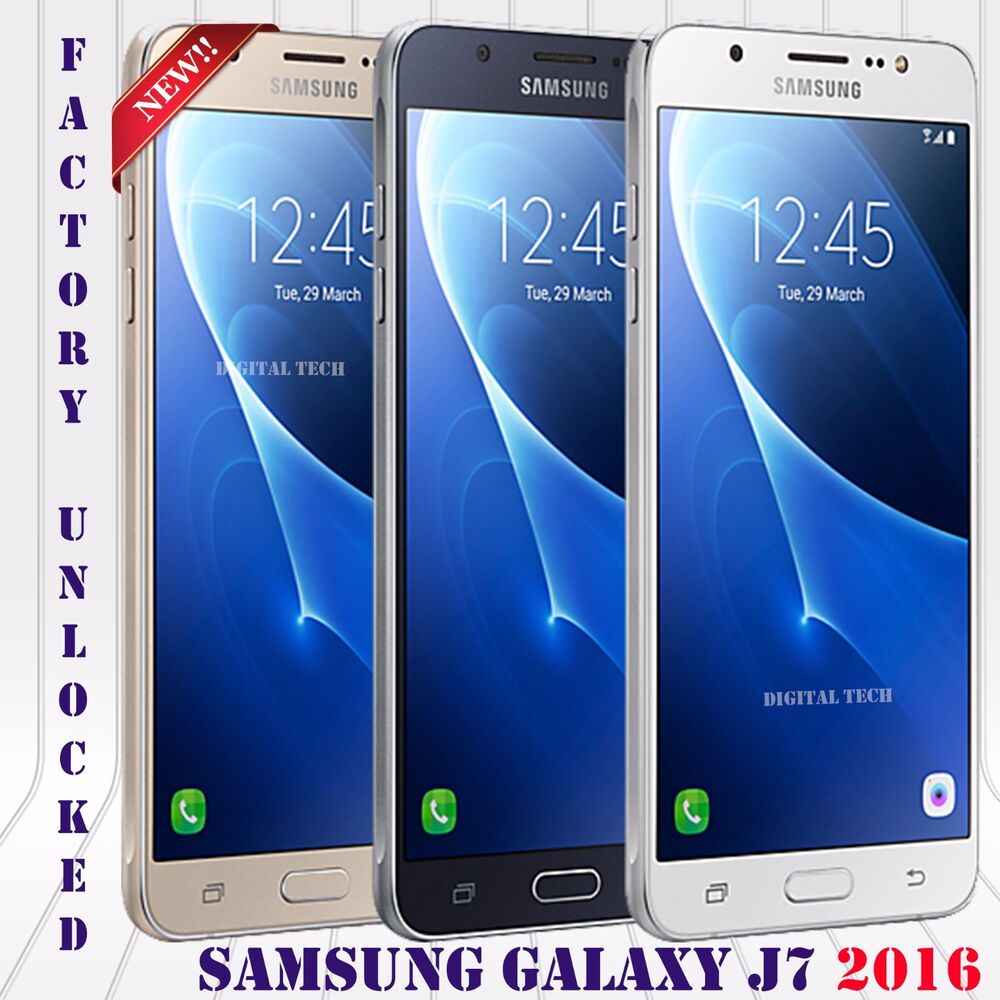 samsung galaxy j7 2016 duos sm j710f ds factory unlocked gold white black ebay. Black Bedroom Furniture Sets. Home Design Ideas