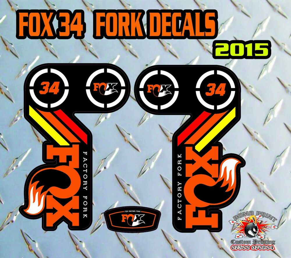 Fox 34 2015 fork stickers decals graphics mountain bike down hill mtb ebay