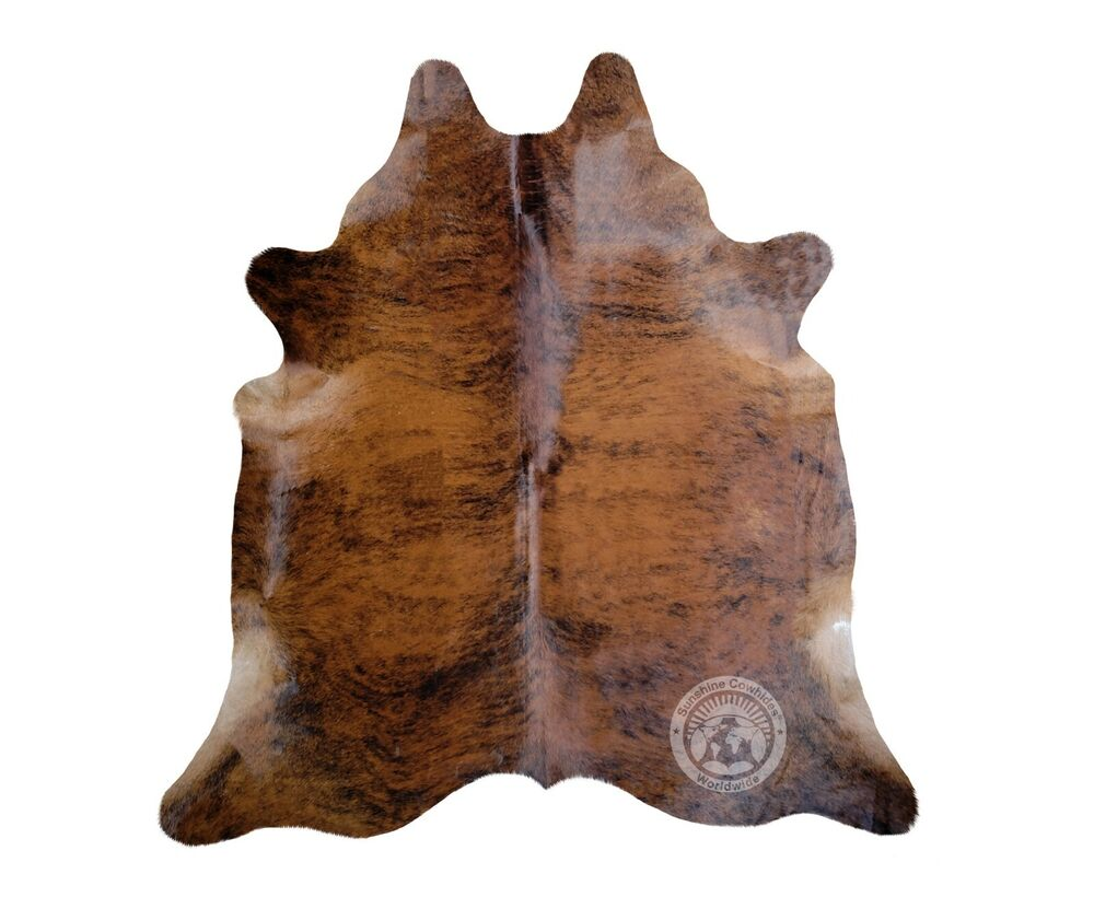 New Brazilian Cowhide Rug Leather Brindle Exotic 6 X8 Cow