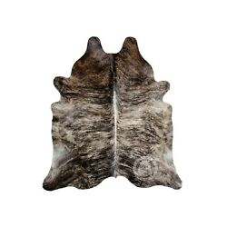 Kyпить New Brazilian Cowhide Rug Leather BRINDLE EXOTIC 6'x8' Cow Hide Rug Cow Leather на еВаy.соm