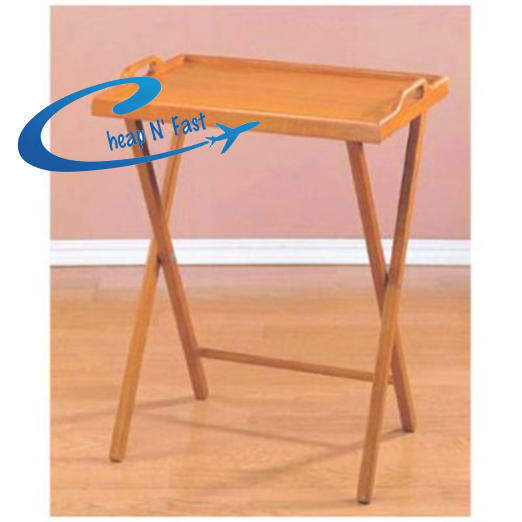 Folding Tv Tray Portable Snack Stand Wood Coffee Table Ebay