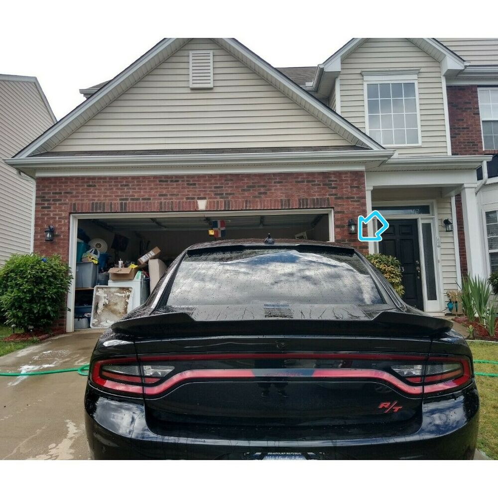Painted H Type Rear Window Roof Spoiler For Dodge Charger
