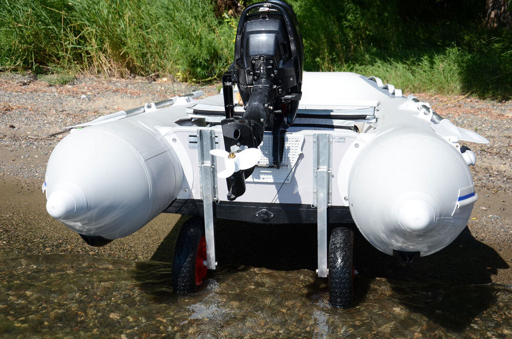Small Boat Wheels : Launching transom wheels for inflatable boats aluminum