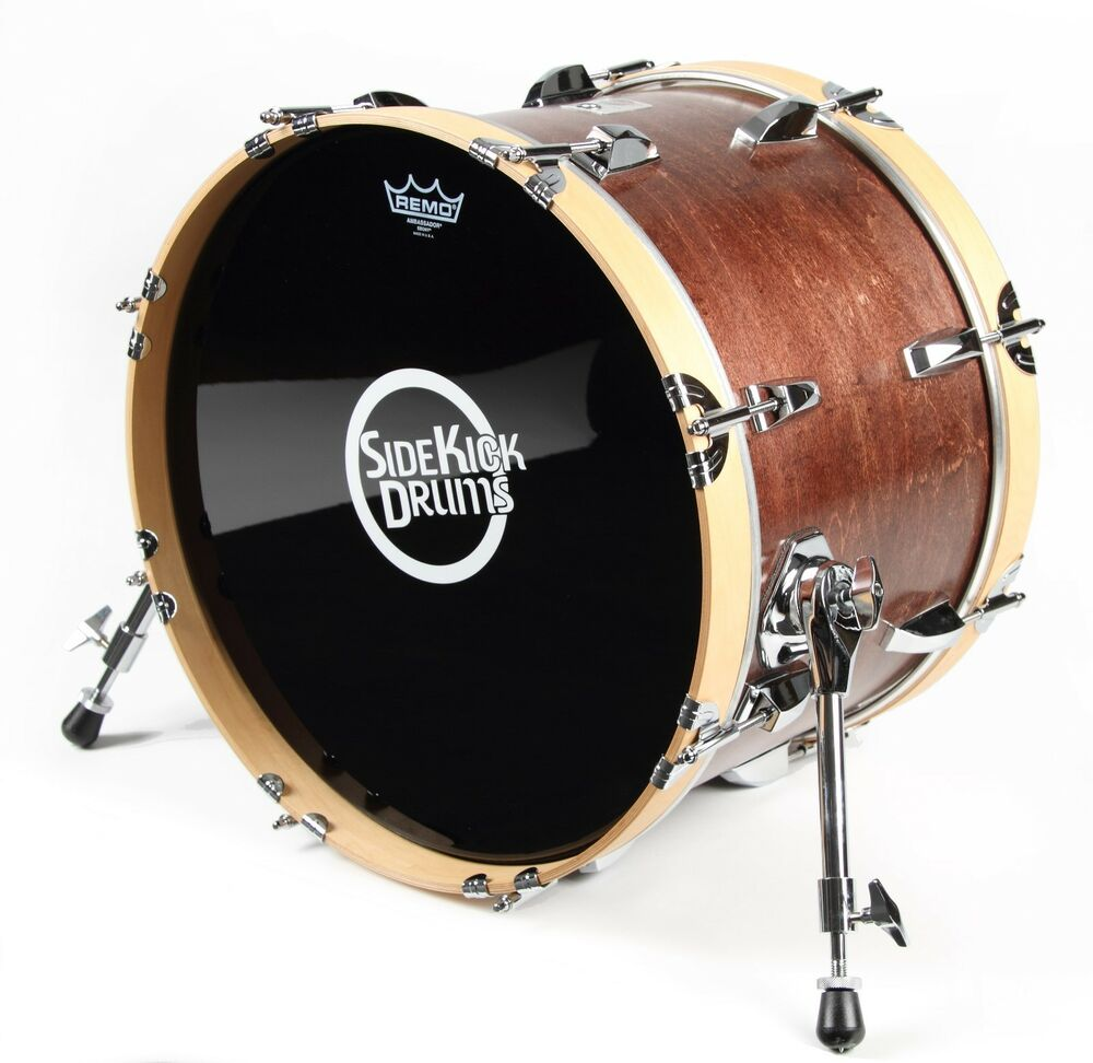 small travel bass drum 12 x 18 red mahogany finish by side kick drums ebay. Black Bedroom Furniture Sets. Home Design Ideas